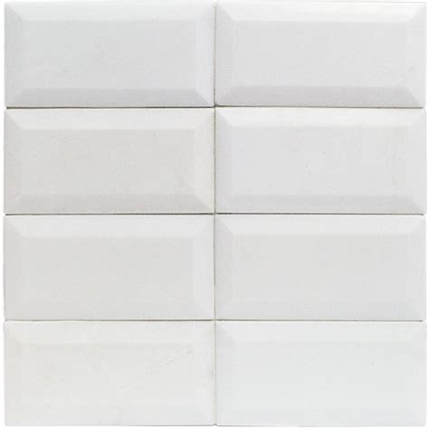white beveled tile white thassos 3x6 beveled marble tile