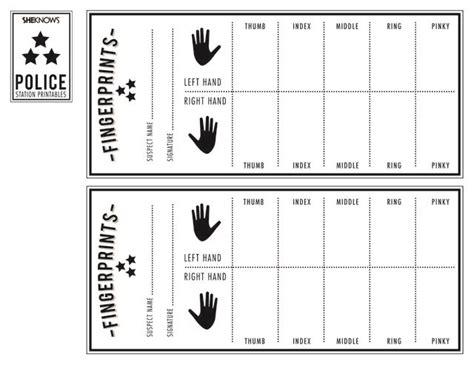 police officer lesson plans for preschool officer s finger print sheet free printable 865