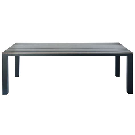 Table De Jardin En Aluminium Gris L 230 Cm Escale