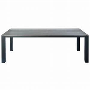 Table De Jardin En Aluminium : table de jardin en aluminium gris l 230 cm escale maisons du monde ~ Teatrodelosmanantiales.com Idées de Décoration