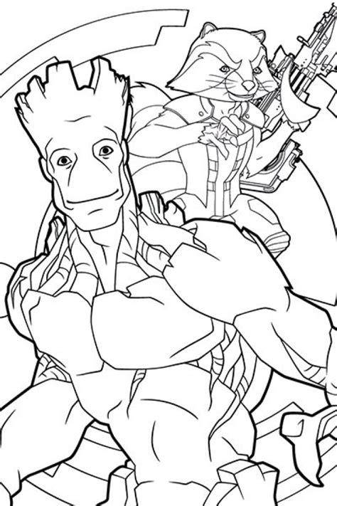guardians   galaxy  characters coloring