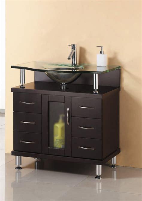 single sink bathroom vanity  espresso  glass
