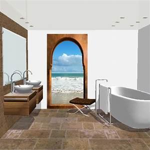 Décoration Murale Salle De Bain : d co murale piscine spa salle de bain arcade sur plage ~ Teatrodelosmanantiales.com Idées de Décoration