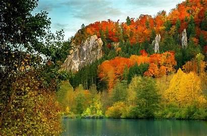 Fall Mountain Desktop Mountains Autumn Wallpapers