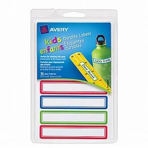 avery kids permanent waterproof labels 3 12 x 58 assorted With avery waterproof water bottle labels