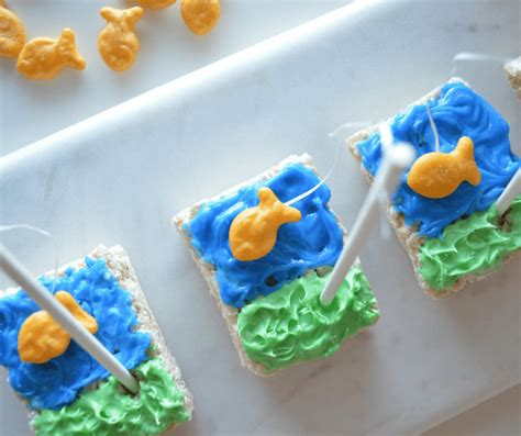desserts to make with rice krispies how to make rice krispies fun fishing treats this ole mom