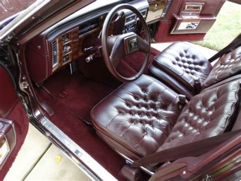 sell   cadillac brougham delegance bordeaux red