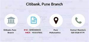 Citibank Pune Ifsc Code Citi0000005
