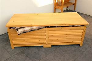 Holztruhe Selber Bauen : holz auflagenbox kissenbox gartenbox gartentruhe box auflagen truhe holztruhe ger teh user ~ Frokenaadalensverden.com Haus und Dekorationen