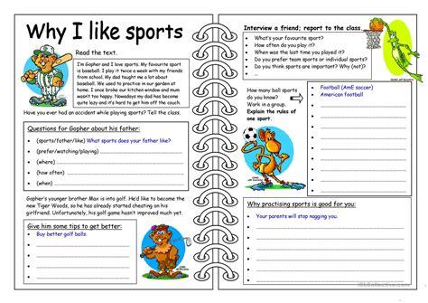 four skills worksheet why i like sports worksheet free esl printable worksheets made by teachers