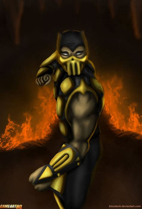 Mk Art Tribute Scorpion From Mortal Kombat 4gold