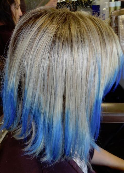 Hairstyles With Tips by Medium Blue Tips Hairstyles How To