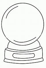 Snow Coloring Globe Globes Winter Crystal Ball Printable Template Cool Empty Snowman Popular Kindergarten Crafts sketch template