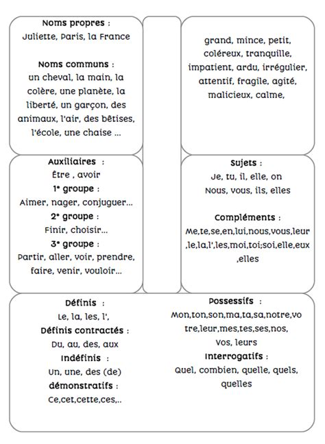 exercice nature des mots cm2 lapbook nature des mots cm2 de deux choses l une