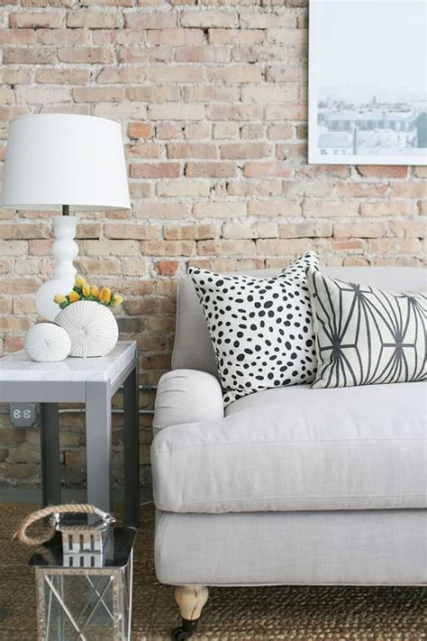 whitewashed brick interior      add texture