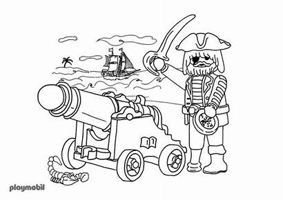 Playmobil Coloring Pages Coloriage Printable Pirate Imprimer