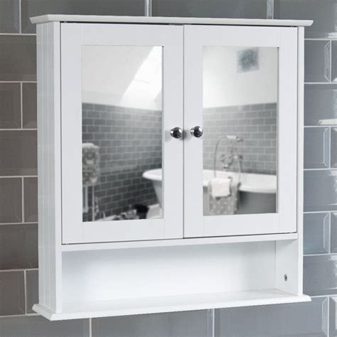 Bathroom Wall Cupboards by Wall Mounted Cabinet Bathroom White Single Door