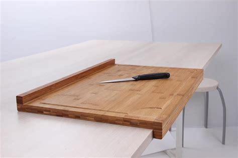protege plan de travail cuisine planche de travail en bambou grand modèle avec rebord