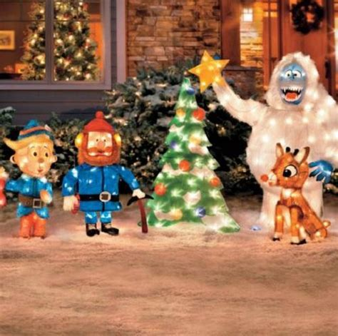 rudolph  red nosed reindeer friends tinsel outdoor