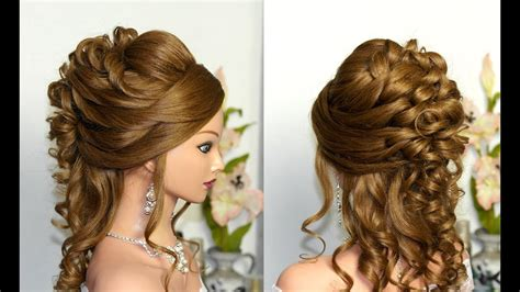 Wedding For Long Hair : Curly Wedding Prom Hairstyle For Long Hair.