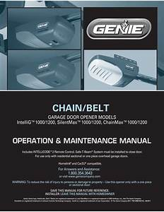 Genie Pro Excelerator Garage Door Opener Manuals