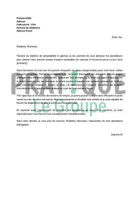 exemple lettre de motivation cuisine lettre de motivation pour un emploi d expert comptable