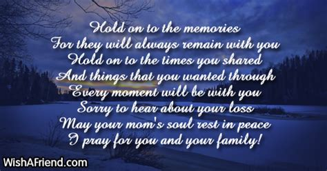 hold    memories  sympathy message  loss
