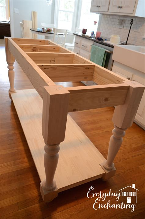 kitchen island or table white modified kitchen island from the handbuilt