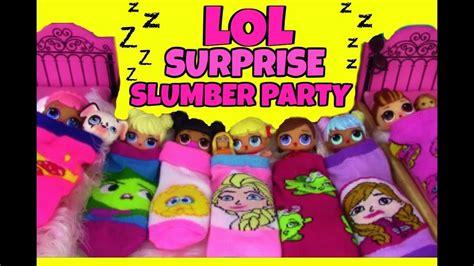 lol surprise dolls slumber party disney princess theme