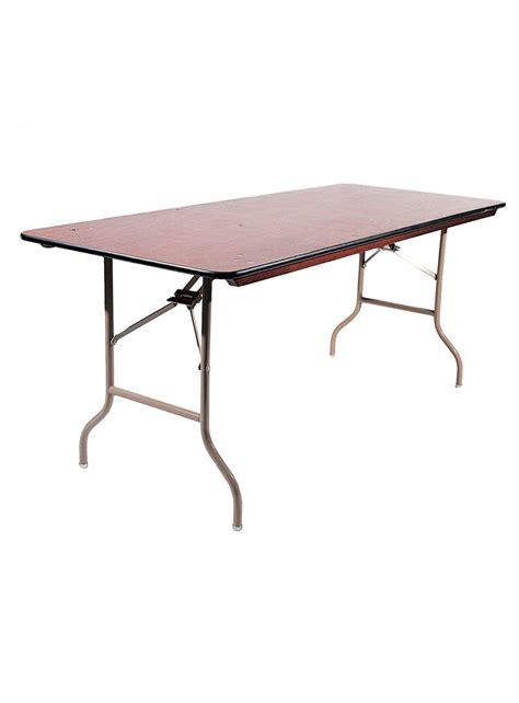 grande table rectangulaire bois pliante pieds acier 200 x 100 cm
