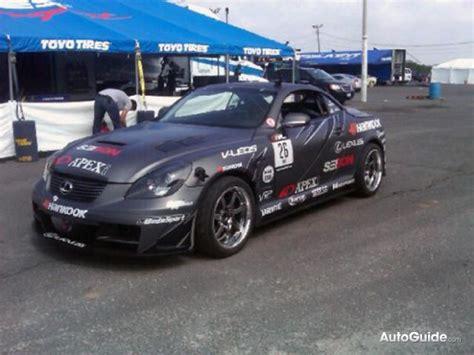 lexus sc430 drift ryuji miki s new drift lexus sc430 spied ahead of formula