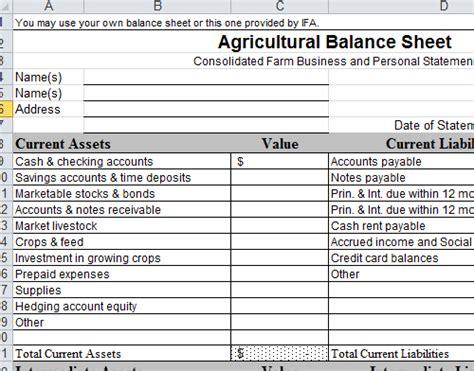 balance sheet format templates  excel