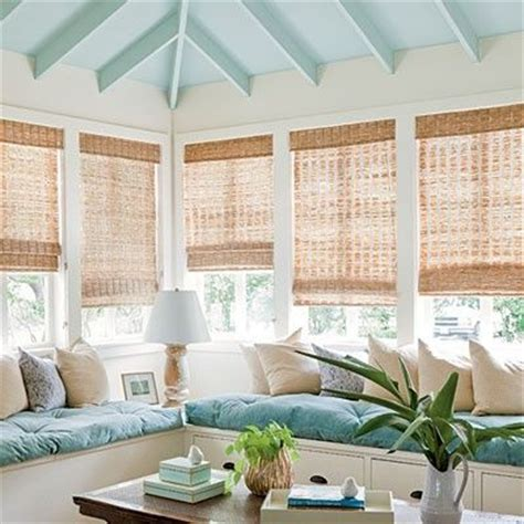 Ceiling Blinds For Sunrooms by Bamboo Shades For Sunroom Decor