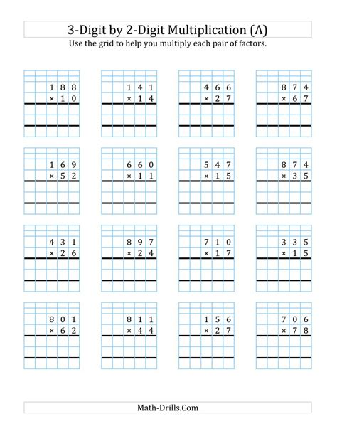 3digit By 2digit Multiplication With Grid Support (a