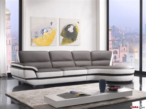 Contemporary Leather Sofa With A 60-degree Corner