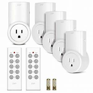 5 Pack Wireless Remote Control Power Outlet Light Switch Plug Socket W  2 Remotes