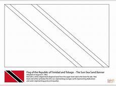 Flag of Trinidad and Tobago coloring page Free Printable