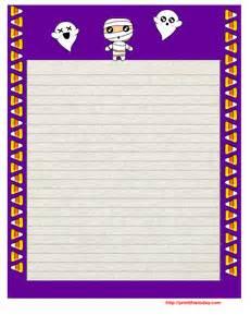 Printable Halloween Writing Paper with Borders