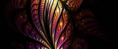 Pattern Tangled Fractal Glow Bright 1080p Dual
