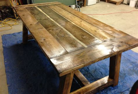 build  rustic  bold farm table