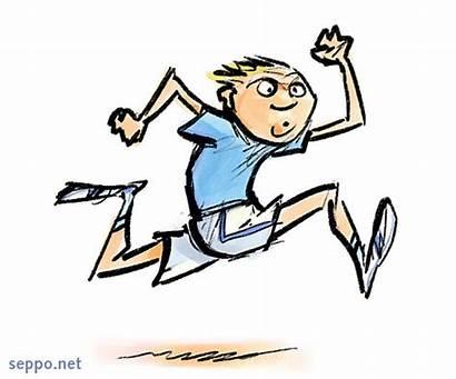Urheilu Juoksija Juoksu Ja Poika Piirrokset Terveys