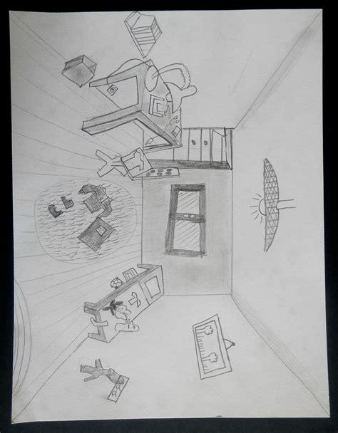 chambre en perspective dessin arts plastiques chambre en perspective idées novatrices
