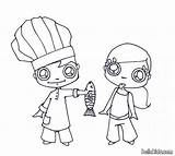Coloring Hate Fish Chef Cooking Corner Drawing Hellokids Diane Whipped Cream Cook sketch template