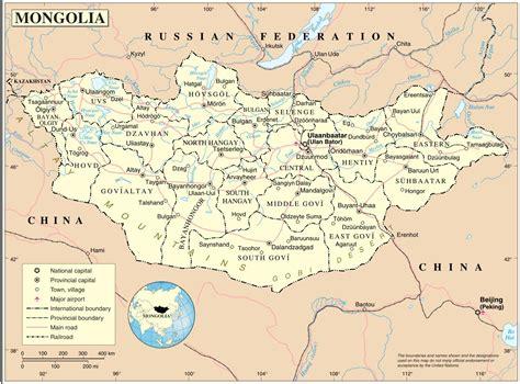 map  mongolia  surrounding countries mongolia