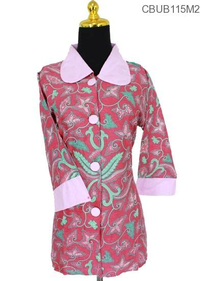 set katun batik bali vista baju batik blus tanggung katun pisang bali blus lengan