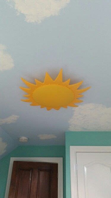 painted ceiling and sun light fitting from ikea ideas for baby s room