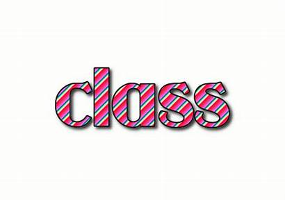 Class Word Logos Animated