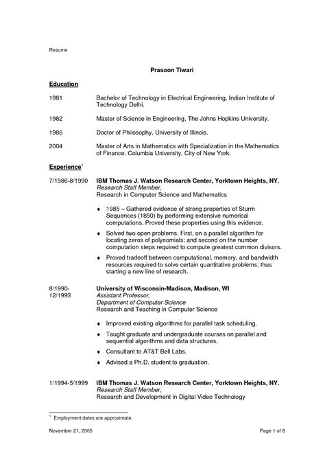Bachelor Of Arts Resume Exles by Websights 187 Best Objectives For Resume Construction