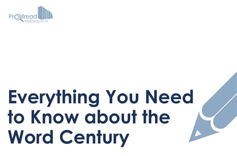 Everything You Need To Know About The Word 'century
