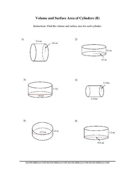 worksheet grade  worksheet volume   cylinder